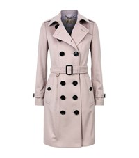 Burberry The Sandringham Cashmere Trench Coat Female White