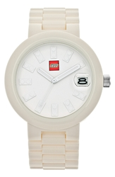 Lego 'Brick' Bracelet Watch 42Mm White