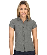 Outdoor Research Reflection Short Sleeve Shirt Charcoal Women's Clothing Gray