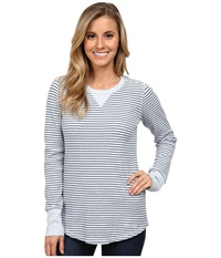Carhartt Hayward T Shirt Striped Top Soft Blue Heather Women's Long Sleeve Pullover Gray
