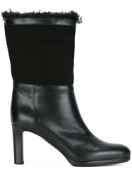Veronique Branquinho Mid Calf High Boots Black