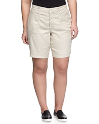 Nydj Catherine Linen Blend Shorts Sand Dollar