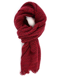 Scotch And Soda Burgundy Chunky Loop Woollen Scarf