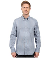 Nautica Long Sleeve Wrinkle Resistant Pocket Shirt Anchor Blue Men's Long Sleeve Button Up