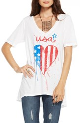 Women's Chaser 'Usa' V Neck Graphic Tee