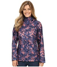 Columbia Arcadia Print Jacket Bluebell Camo Print Women's Coat Purple