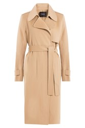 Theory Belted Wool Coat Camel