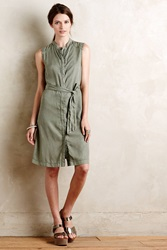 Anthropologie Miltary Shirtdress Moss