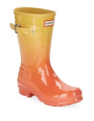 Hunter Ombre Mid Rain Boots Orange