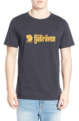 Fjall Raven Men's Fj Llr Ven 'Retro' Organic Cotton Graphic T Shirt Dark Navy