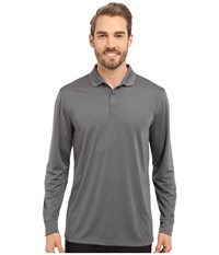 Nike Victory Long Sleeve Polo Dark Grey White Men's Long Sleeve Pullover Gray