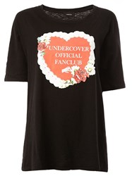 Undercover 'Undercover Official Fanclub' Print T Shirt Black