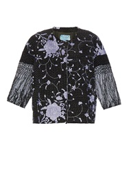 By Walid Embroidered Piano Shawl Silk Jacket