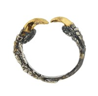 Tessa Metcalfe Oxidized Silver Single Claw Ring