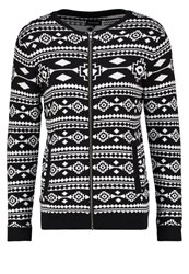 Your Turn Cardigan White Black