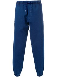 Mcq By Alexander Mcqueen Denim Effect Track Pants Blue