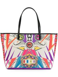 Etro Printed Shopper Tote Multicolour