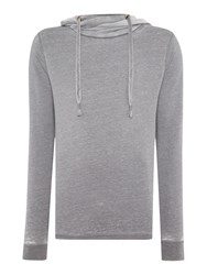 Red Soul Estienne Plain Funnel Neck Pullover Sweatshirt Grey