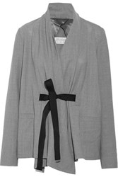 Maison Martin Margiela Belted Wool Jacket Gray