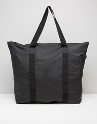 Rains Large Tote Bag In Black Black