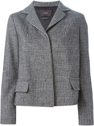 Odeeh Checked Boxy Fit Jacket Black