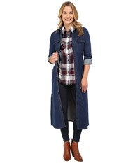Kut From The Kloth Aly Boho Maxi W Front Patch Pocket Mercy Antique Base Wash Women's Dress Navy