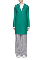 Harris Wharf London Wool Cocoon Coat Green