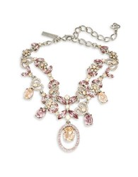 Oscar De La Renta Floral Statement Necklace Pink