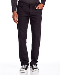 John Varvatos Usa Bowery Straight Fit Jeans In Black Bloomingdale's Exclusive