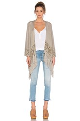 360 Sweater Rowan Fringe Cardigan Brown