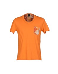 Jijil Topwear T Shirts Men Orange