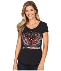 Rock And Roll Cowgirl Short Sleeve T Shirt 49T8186 Black Women's T Shirt