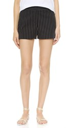 Dkny Elastic Waist Shorts Black White