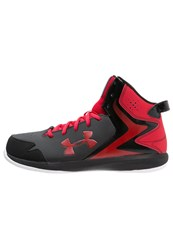 Under Armour Lockdown Basketball Shoes Noir Rouge Blanc Black