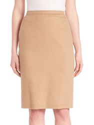Max Mara Knee Length Fitted Skirt Camel