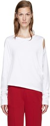 Maison Martin Margiela White Cut Out T Shirt