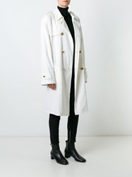 Versace Vintage Midi Trench Coat White