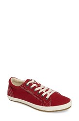 Taos Women's 'Star' Sneaker Ruby Red Washed Canvas