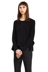 Opening Ceremony Linear Long Sleeve Delta Top Black