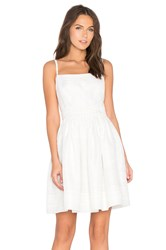 Kate Spade Ribbon Organza Bow Dress White