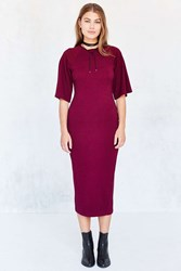The Fifth Label Repetition Sweater Knit Bodycon Midi Dress Red