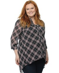 Motherhood Maternity Plus Size Plaid Shirt Red Plaid
