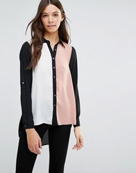 Influence Block Coloured Blouse Pink