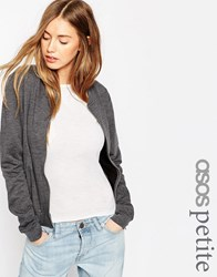 Asos Petite Bomber Jacket Charcoal Grey