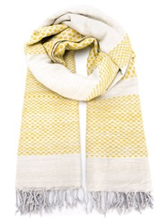 Humanoid Fringed Woven Scarf Nude And Neutrals