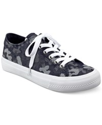 Guess Women's Gelise Lace Up Sneakers Women's Shoes Blue Multi