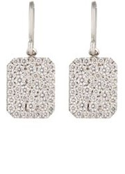 Finn Women's Looking Glass Drop Earrings Colorless