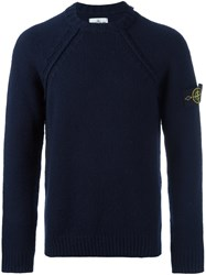 Stone Island Knitted Long Sleeve Sweater Blue