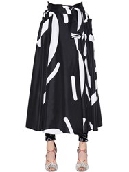 Max Mara Flared Printed Taffeta Skirt