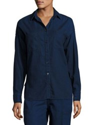 Vince Denim Patch Pocket Shirt Rinse Wash